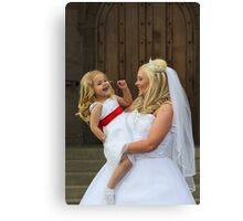 Bridal Smiles Canvas Print