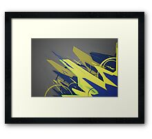 Abstract Graffiti Form Framed Print