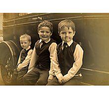 The Runner Boys Photographic Print