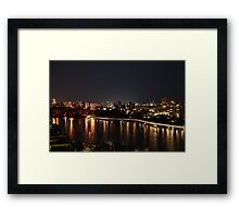 River lights Framed Print