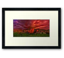 """Hot Rocks"" Framed Print"