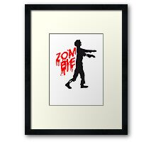 Zombie of undead Framed Print