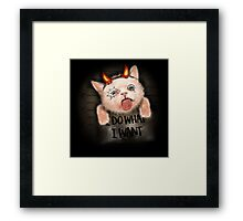 naughty kitten Framed Print