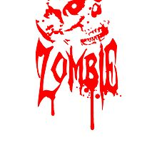 Zombie skull blood skull by Style-O-Mat