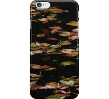 Autumn leaves on water iPhone Case/Skin