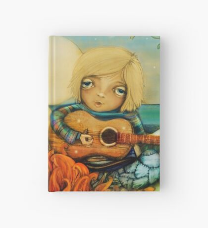 beach campfire Hardcover Journal