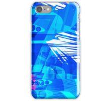 Blue Subway Background iPhone Case/Skin