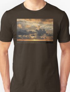 Sunset on a stormy day Unisex T-Shirt