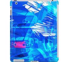 Blue Subway Background iPad Case/Skin