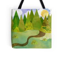Watercolour Mountains Tote Bag