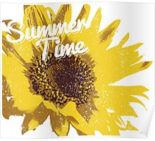 summer time sun flower Poster