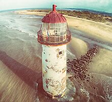 Talacre Lighthouse from the air by James Farley