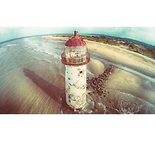Talacre Lighthouse from the air Photographic Print