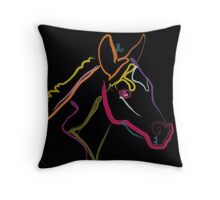Pillow color foal , filly Throw Pillow