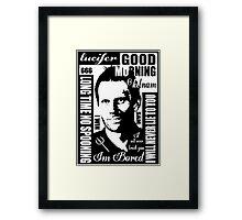 Spn Lucifer :) Framed Print
