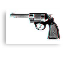 3D Revolver Canvas Print