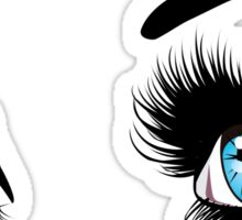 Blue eyes with long eyelashes  Sticker