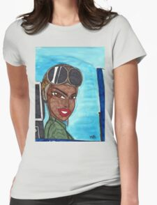Never leave your Wingwoman Womens Fitted T-Shirt