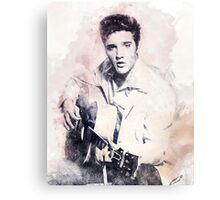 Elvis presley portrait 01 Canvas Print