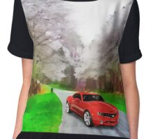 """ Life Is Like A Car. If You Keep Going In Reverse You Won't Get To Your Destination, But If You Speed Up And Don't Take The Time To Enjoy Your Surroundings You Might Get Lost "" Chiffon Top"