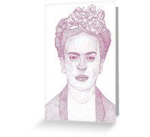 Frida Kahlo Dotwork Drawing Greeting Card