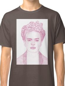 Frida Kahlo Dotwork Drawing Classic T-Shirt