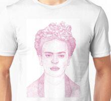 Frida Kahlo Dotwork Drawing Unisex T-Shirt