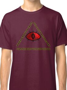 Gravity Falls- bill cipher fear the beast Classic T-Shirt