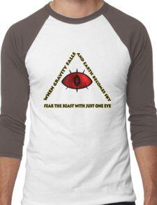 Gravity Falls- bill cipher fear the beast Men's Baseball ¾ T-Shirt