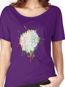 Tulips Grunge Sketch Colorful Women's Relaxed Fit T-Shirt