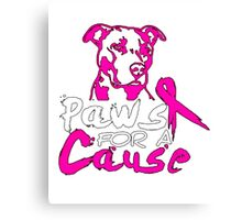 My Dogs t-shirt, Paws for a cause Canvas Print