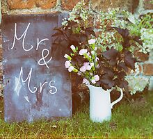 Mr & Mrs chalkboard by James Farley