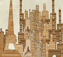 paris city vintage  by bri-b