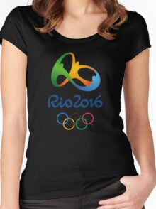 Olympics in Rio 2016 Best Logo Women's Fitted Scoop T-Shirt