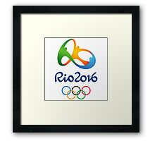 Olympics in Rio 2016 Best Logo Framed Print