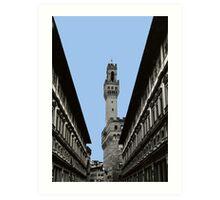 Uffizi Gallery and Palazzo Vecchio Florence Art Print