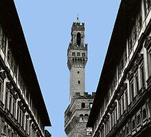 Uffizi Gallery and Palazzo Vecchio Florence by RachelMacht