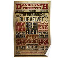 Victorian style movie poster Blue velvet Poster