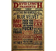 Victorian style movie poster Blue velvet Photographic Print