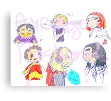Avengers Mashimaro Canvas Print