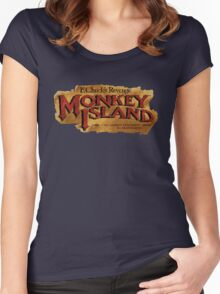 Monkey Island 2 logo Women's Fitted Scoop T-Shirt