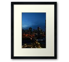 Sky rise city Framed Print