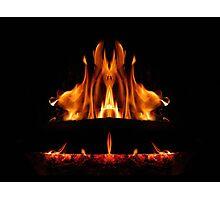 Fire Symmetry Photographic Print