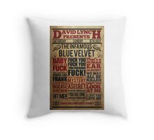 Victorian style movie poster design Blue velvet Throw Pillow
