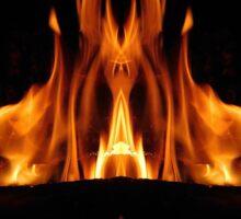 Fire Symmetry Sticker