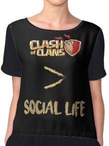 Clash of Clans no social life Chiffon Top