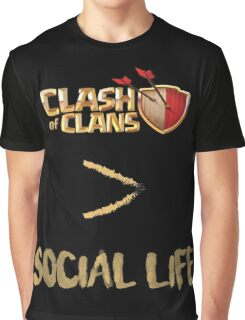 Clash of Clans no social life Graphic T-Shirt