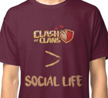 Clash of Clans no social life Classic T-Shirt