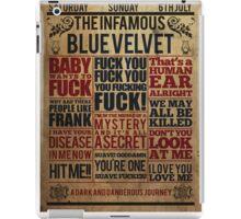 Victorian style movie poster design Blue velvet iPad Case/Skin