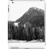 Mount Rainier, Washington USA (B&W) iPad Case/Skin